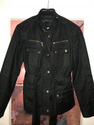 Zara Military Jacket black-gold-colored