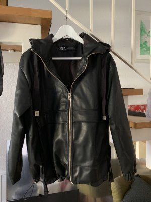 Zara Faux Leather Jacket black