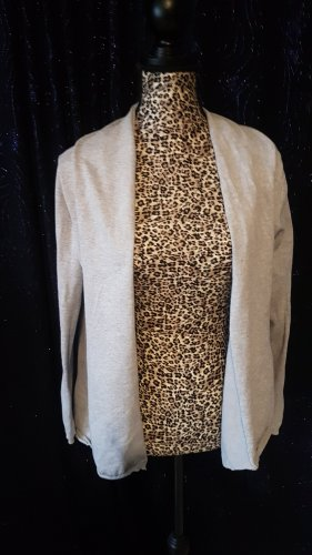 Zara Knit Shirt Jacket light grey