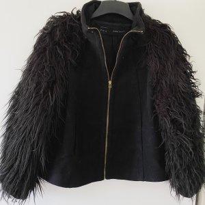 Zara - Jacke Faux Fur in M - Gebraucht