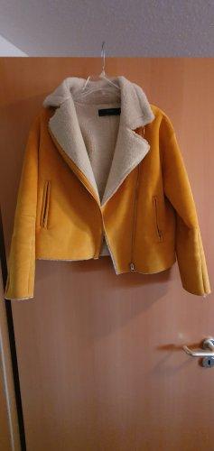 Zara Jack van imitatiebont goud Oranje