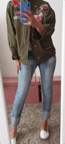 Zara Between-Seasons Jacket green grey-olive green