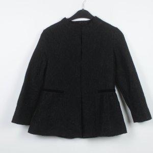 Zara Blusón negro tejido mezclado