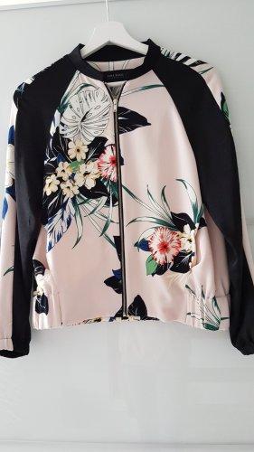 Zara Veste chemisier noir-rosé