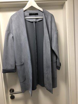 Zara Chaqueta holgada gris claro