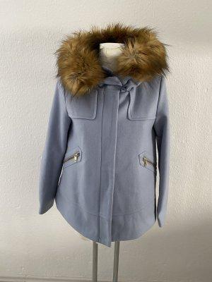 Zara Basic Giacca con cappuccio azzurro