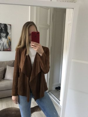 Zara Jacke in Veloursleder Optik