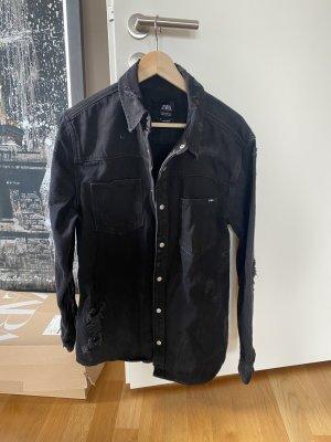Zara Jacke Jeans XL schwarz grau