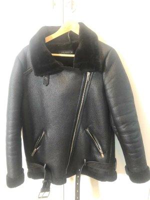 Zara Jacke // Lederjacke // schwarze Jacke