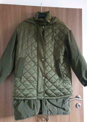 Zara Between-Seasons Jacket olive green