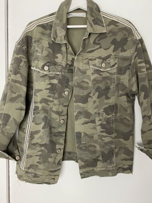 Zara Military Jacket olive green cotton