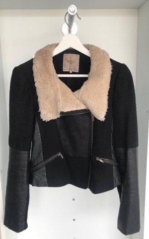 Zara - Jacke mit Faux-Fur Kragen