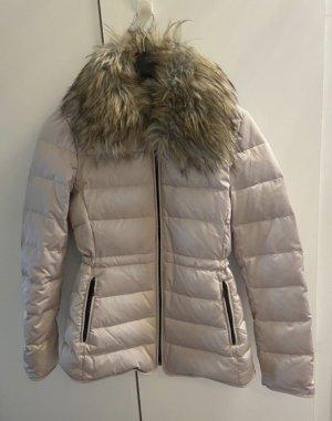 Zara Woman Fur Jacket rose-gold-coloured-cream