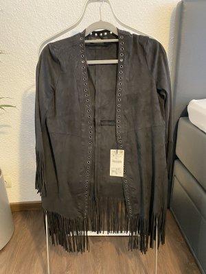 Zara Jacke mit Fransen neu mit Etikett