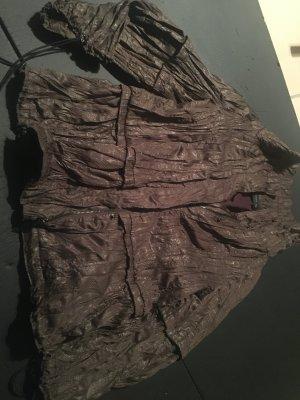 Zara Blusón marrón tejido mezclado