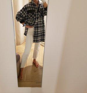 Zara Veste oversize blanc-noir