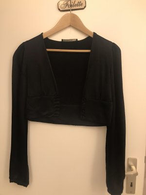 Zara Zijden blouse zwart