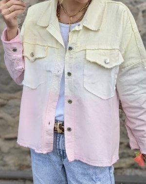 Zara Jacke oversized Hemd farbverlauf Dip dye Batik Gr. M Np 79€
