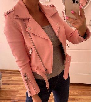 Zara Kurtka z imitacji skóry różowy-jasny różowy Skóra