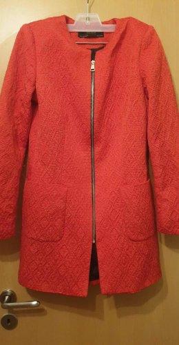 Zara Giacca lunga rosso scuro