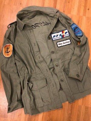 Zara Veste militaire gris vert-kaki