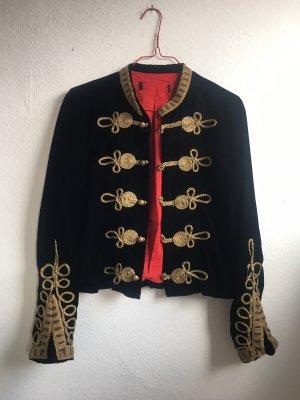 Zara Blusón negro-color oro