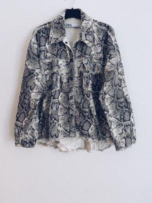 Zara Kurtka oversize srebrny-czarny