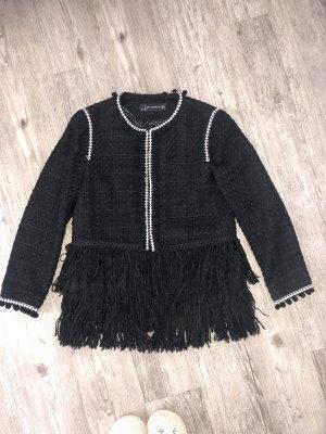 Zara Jacke/Tweed-Blazer in Chanel-Optik