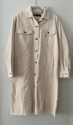 Zara Long Jacket natural white