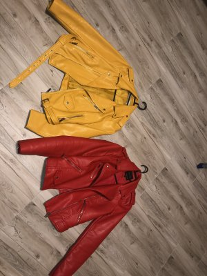 Zara Jacken Gelb und Rot