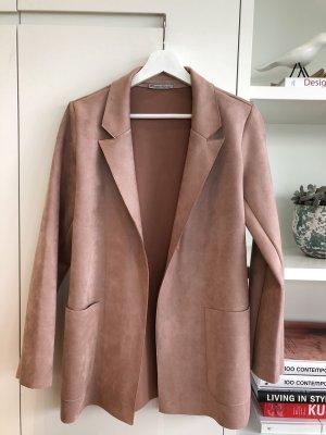 Zara Basic Leren blazer veelkleurig