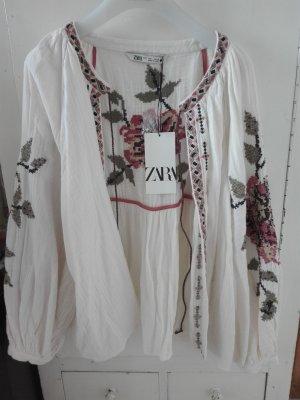 Zara Chaqueta tipo blusa multicolor