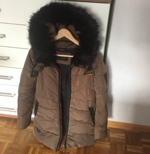 Zara Basic Chaqueta larga marrón claro