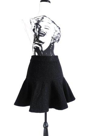 Zara Jaquard Mini Rock Volant black – XS