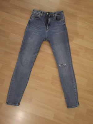 Zara Woman Hoge taille jeans azuur
