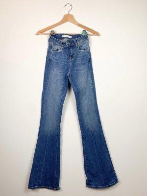 Zara Jeansy o kroju boot cut błękitny