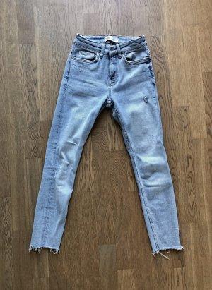 Zara Jeans a vita alta azzurro-blu