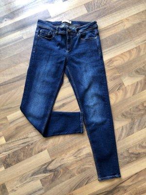 Zara Basic Jeans 7/8 bleu-bleu foncé