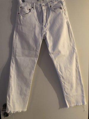 Zara Jeans 7/8  lockerer Schnitt und offener Saum