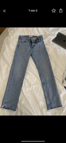 Zara Boyfriend Trousers azure-cornflower blue