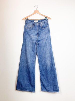 Zara Jeans flare bleu azur