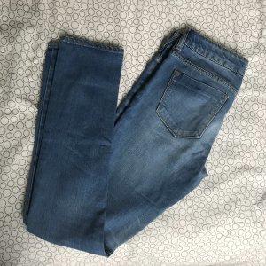 Zara Jeansy z prostymi nogawkami niebieski-stalowy niebieski