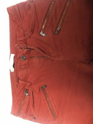 Zara Pantalone cinque tasche ruggine