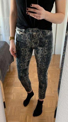 Zara Jeans Animal Print Skinny