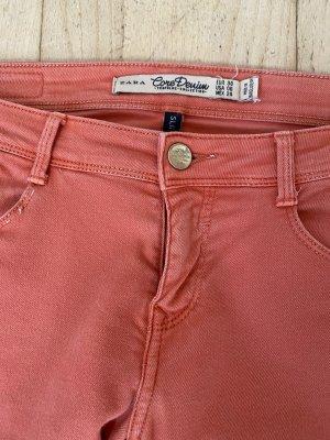 Zara Jeans apricot Peach Skinny