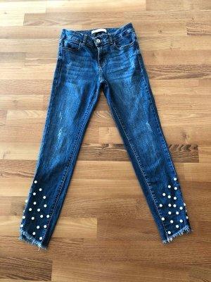 Zara 7/8-jeans blauw