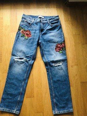 ZARA Jeans Blumen 36