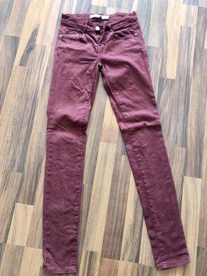 Zara Jeans bordeaurot 32