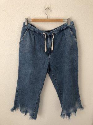 Zara Pantalone culotte blu-azzurro