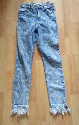 Zara Jeans / denim / fransen / fringe